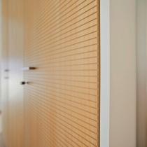 Horizontal milled panels